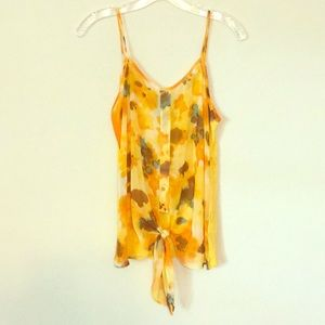 Yellow printed tank top